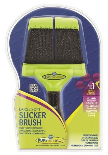 FURminator Larg Soft Slicker Brush kefe
