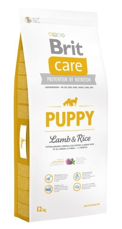 Brit Care Hipo-allergenic Puppy All Breed Lamb and Rice kutyatáp (2x12kg)