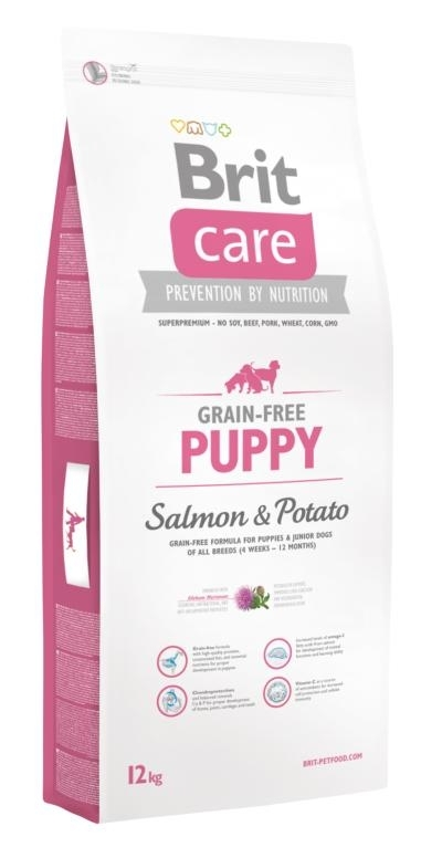 Brit Care Grain-free Puppy Salmon & Potato kutyatáp (2x12kg)