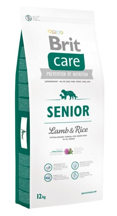 Brit Care Hipo-allergenic Senior Lamb and Rice kutyatáp (3 kg)