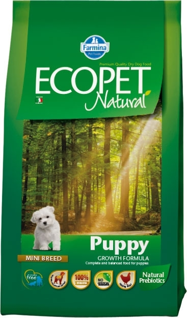 Ecopet Natural Puppy Mini kutyatáp  (2x14kg)