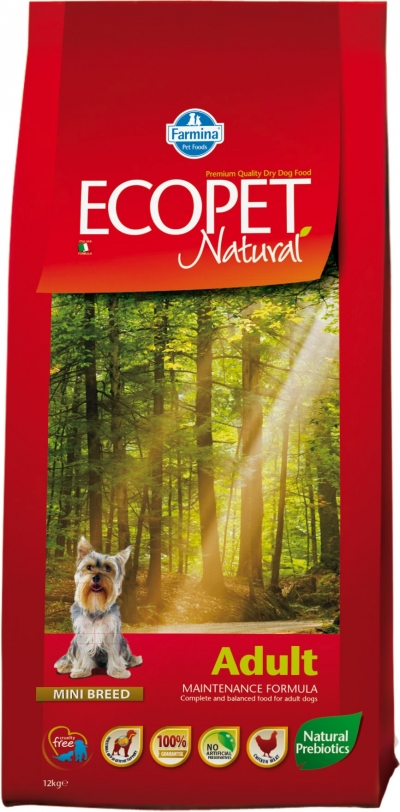 Ecopet Natural Adult Mini kutyatáp (2x14kg)