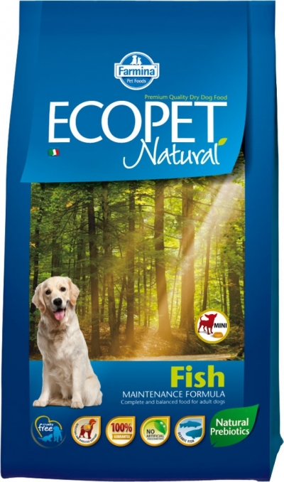 Ecopet Natural Fish Mini kutyatáp  (2x14kg)