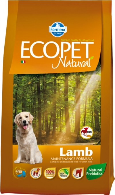 Ecopet Natural Lamb Mini kutyatáp (2x14kg)