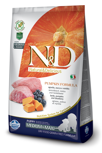 N&D Dog Grain Free Lamb Pumpkin and Blueberry Puppy M/M kutyatáp