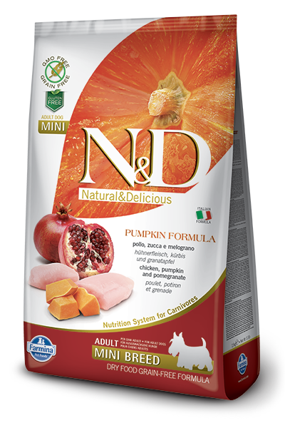 N&D Dog Grain Free Chicken Pumpkin and Pomegranate Adult Mini kutyatáp