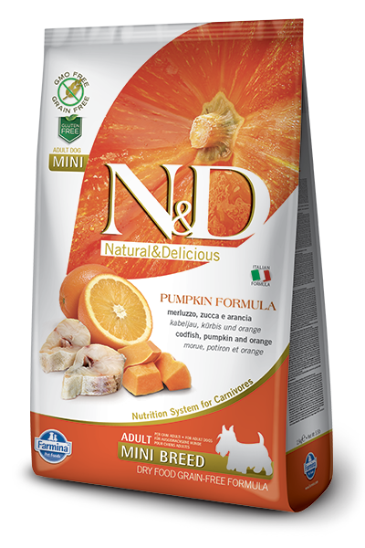 N&D Dog Grain Free Codfish & Orange Pumkin Adult Mini kutyatáp
