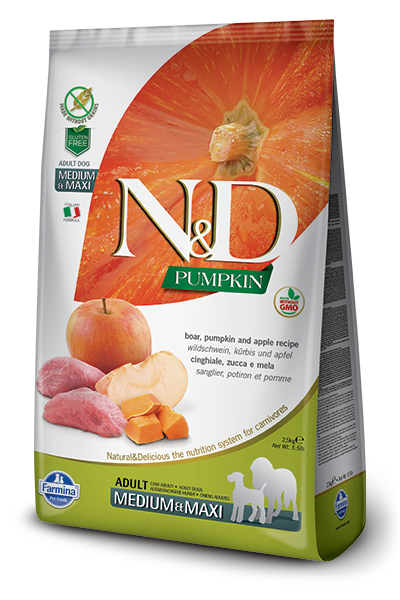N&D Dog Grain Free Boar & Apple Pumpkin Adult M/M kutyatáp