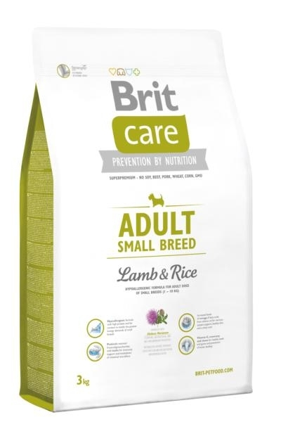 Brit Care Hipo-allergenic Adult Small Lamb and Rice kutyatáp (3 kg)