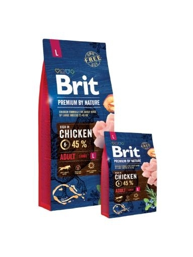 Brit Premium by Nature Adult Large kutyatáp (2x15 kg)