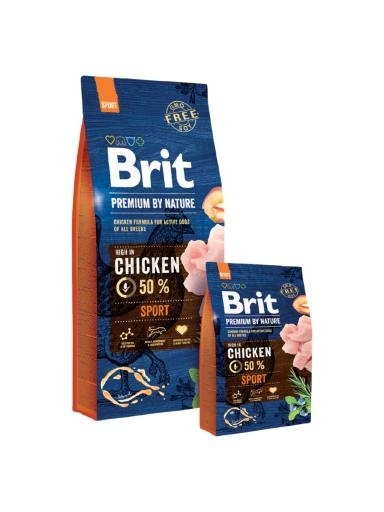 Brit Premium by Nature Adult Sport kutytatáp (2x15 kg)