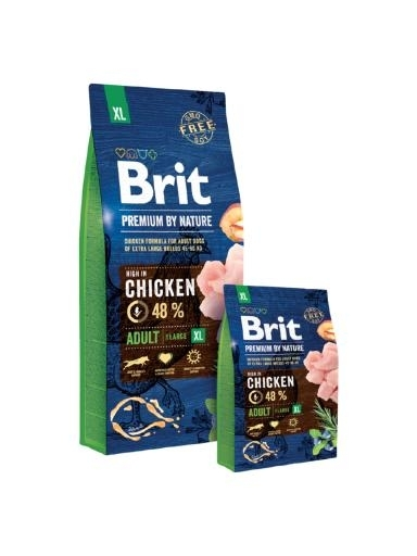 Brit Premium by Nature Adult Extra Large kutyatáp (2x15 kg)