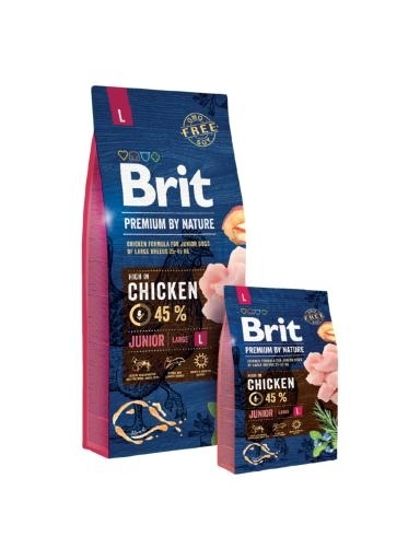 Brit Premium by Nature Junior Large kutyatáp (2x15 kg)