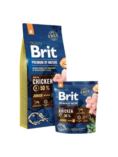 Brit Premium by Nature Junior Medium kutyatáp (2x15 kg)