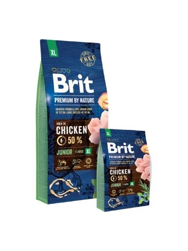 Brit Premium by Nature Junior Extra Large kutyatáp (2x15 kg)