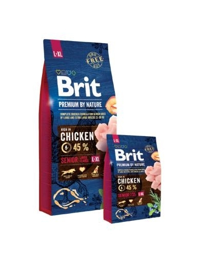Brit Premium by Nature Senior Large, Extra Large kutyatáp (2x15 kg)
