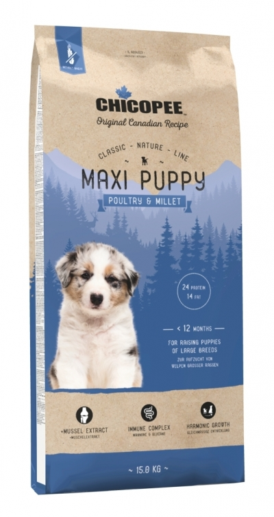 Chicopee CNL Maxi Puppy Poultry & Millet kutyatáp (2x12 kg)