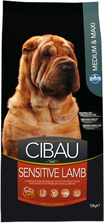 Cibau Sensitive Lamb M/M kutyatáp (24+4 kg)