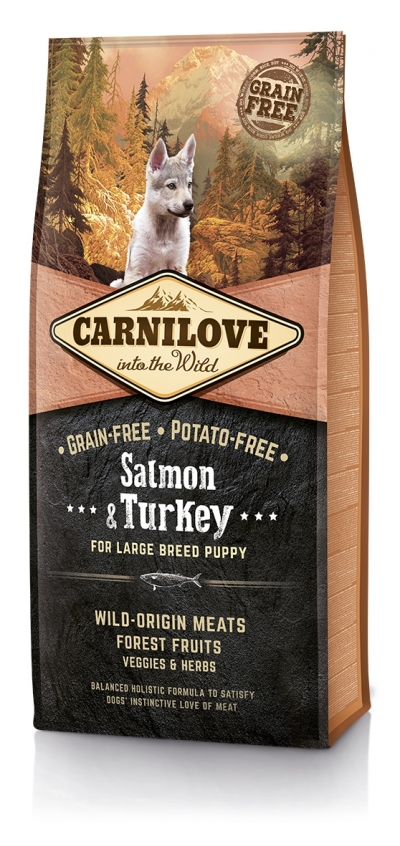 CarniLove Puppy Large Breed Salmon, Turkey kutyatáp (2x12kg)