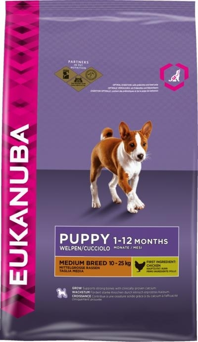 Eukanuba Puppy Medium Breed kutyatáp, táp kutya, kutyaeledel