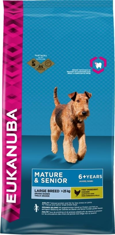 Eukanuba Mature and Senior Large Breed kutyatáp, táp kutya, kutyaeledel