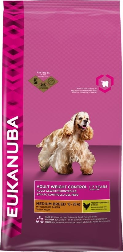 Eukanuba Adult Medium Breed Weight Controll  kutyatáp, táp kutya, kutyaeledel