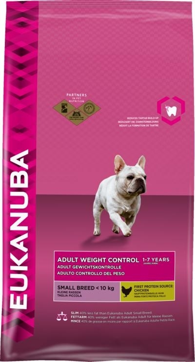 Eukanuba Adult Small Breed Weight Controll kutyatáp, táp kutya, kutyaeledel