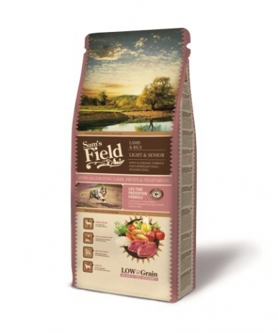 Sam's Field Fresh Light & Senior Lamb & Rice kutyatáp (2x13 kg)