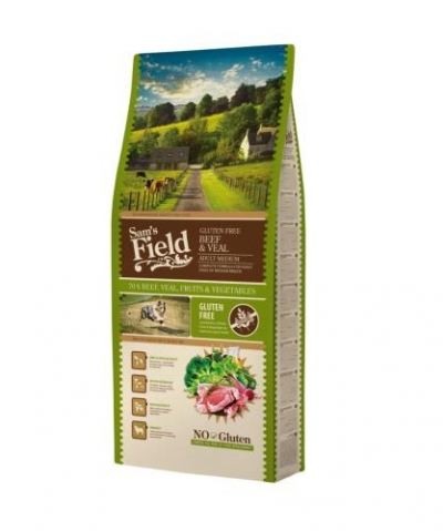 Sam's Field Gluten Free Medium Adult Beef & Veal kutyatáp