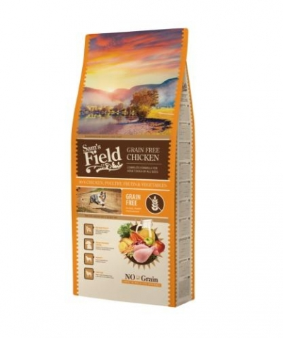 Sam's Field Grain Free Adult Chicken kutyatáp (13 kg)