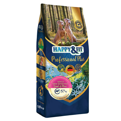 Happy & Fit Professional Plus Adult Sensitive Fish&Rice kutyatáp (18 kg)