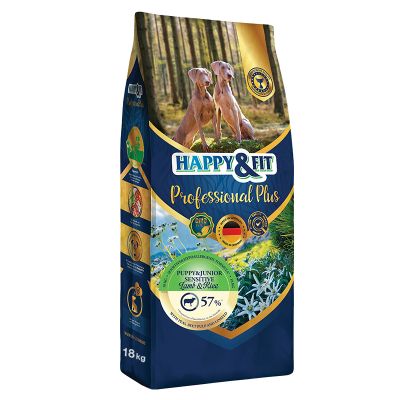 Happy & Fit Professional Plus Puppy&Junior Sensitive Lamb&Rice kutyatáp