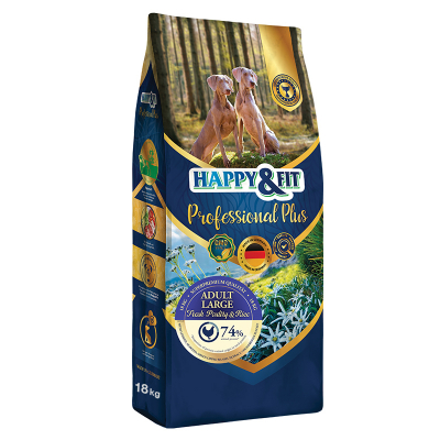 Happy & Fit Professional Plus Adult Large Fresh Poultry&Rice kutyatáp