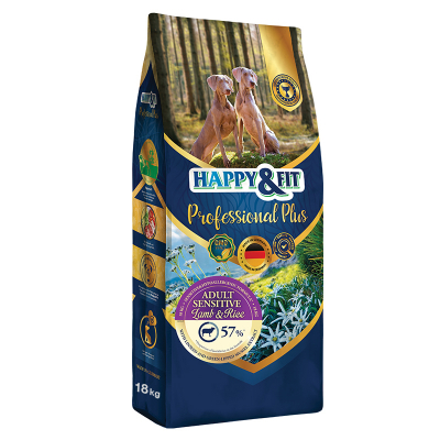Happy & Fit Professional Plus Adult Sensitive Lamb&Rice kutyatáp (18 kg)