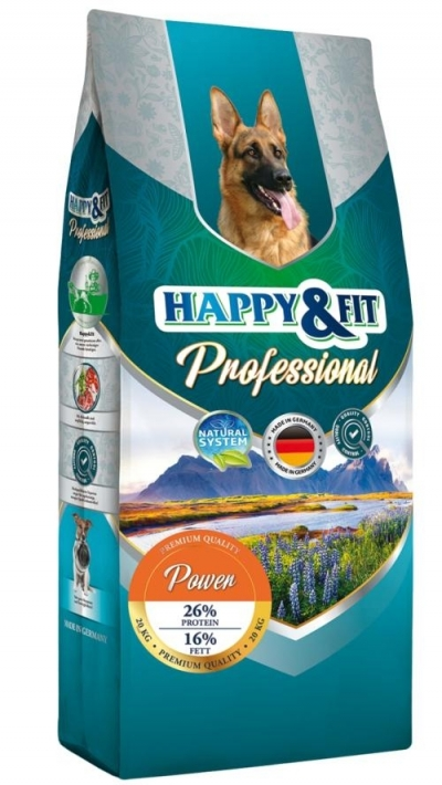 Happy&Fit Professional Power kutyatáp (20 kg)