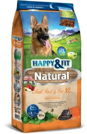 Happy & Fit Natural Adult Rind&Reis XL kutyatáp