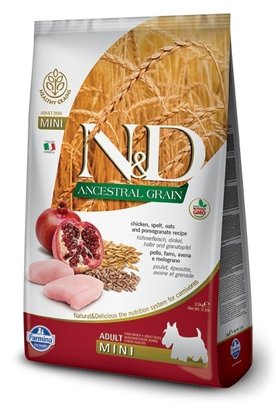 N&D Dog Low Grain Adult Mini Chicken & Pomegranate kutyatáp