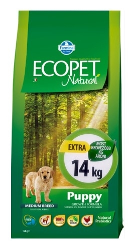 Ecopet Natural Puppy Medium kutyatáp (2x14kg)