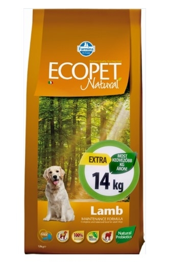 Ecopet Natural Lamb Medium kutyatáp (2x14kg)