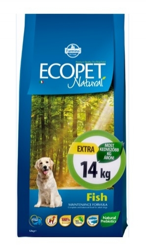 Ecopet Natural Fish Medium kutyatáp (2x14kg)