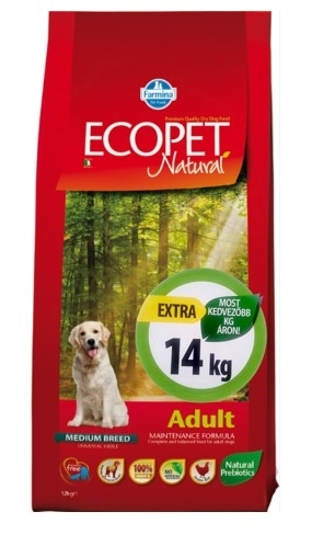Ecopet Natural Adult Medium kutyatáp (2x14kg)