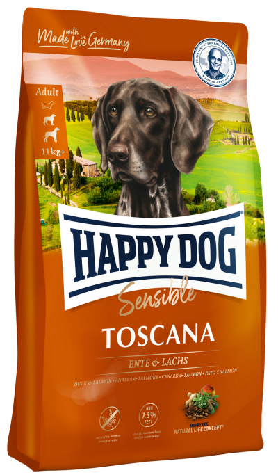 Happy Dog Supreme Sensible Toscana táp kutyának (12,5 kg)
