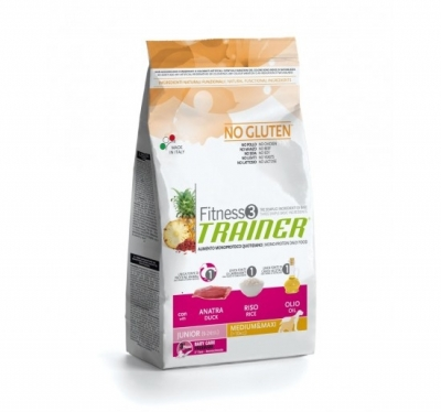 Trainer Fitness 3 Junior Duck and Rice Medium/Maxi kutyatáp (2x12,5kg)