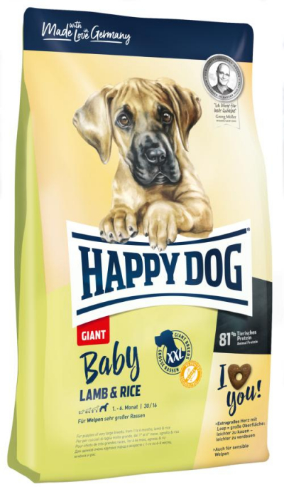 Happy Dog Supreme Baby Giant Lamb & Rice kutyatáp, happy dog kutyatáp