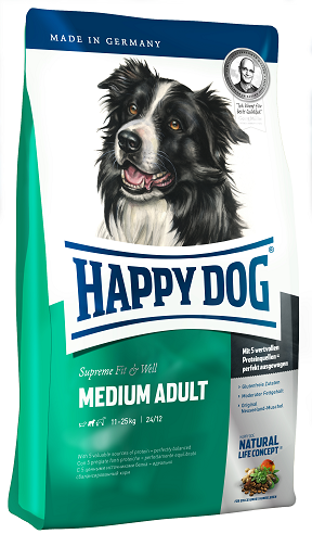 Happy Dog Supreme Fit and Well Medium Adult táp kutyának (2x12,5kg)