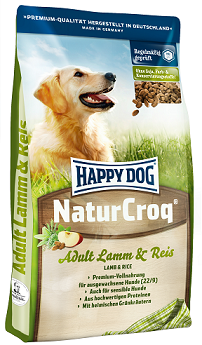 Happy Dog NaturCroq Lamm and Reis táp kutyáknak (30 kg (2x15kg) )