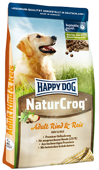 Happy Dog NaturCroq Rind and Reis táp kutyáknak (30 kg (2x15kg))
