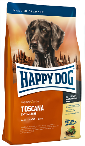 Happy Dog Supreme Sensible Toscana táp kutyának, happy dog kutyatáp