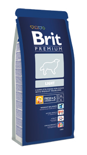 Brit Premium Light  kutyatáp (3 kg)