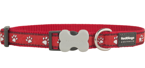 Red Dingo Design Desert Paw piros kutyanyakörv  (12 mm x 20-32 cm)